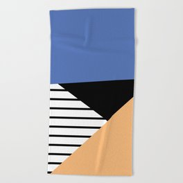 shapes and stripes Beach Towel