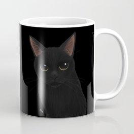 Black cat in black Coffee Mug