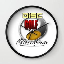 Disc Golf Champion Funny Wall Clock