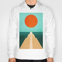 road Hoodies featuring The Road Less Traveled by Picomodi