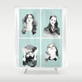 Minty Collection Shower Curtain