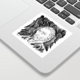 Van Gogh in black Sticker
