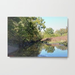 Where Canoes and Raccoons Go Series, No. 4 Metal Print