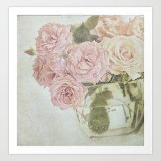 Between roses. Art Print