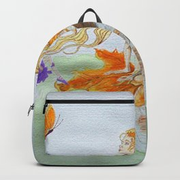 Watercolour painting of 'Fantasy' Backpack