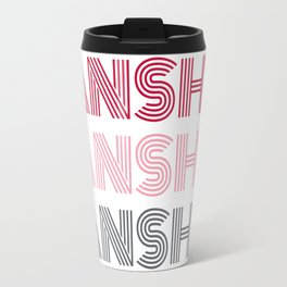 Banshee x3 - Red/Pink/Gray Travel Mug
