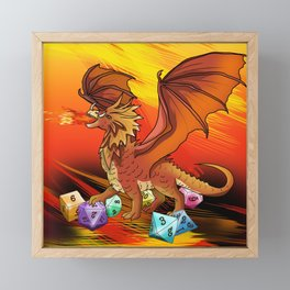 Here be dragons Framed Mini Art Print