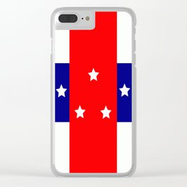 Flag of the Netherlands Antilles Clear iPhone Case