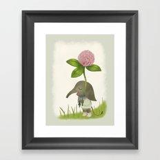 Little Elephant and the Dandyflower Framed Art Print