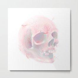 Veiny Skull Metal Print