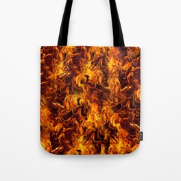 Fire and Flames Pattern Tote Bag