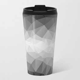 Abstract black and white background of triangles polygon Travel Mug