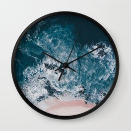 I love the sea - written on the beach Wall Clock
