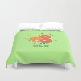 Eight Years 8th Birthday Party Lion T-Shirt Dgwku Duvet Cover