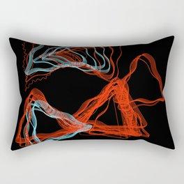 Abstract Contours Rectangular Pillow