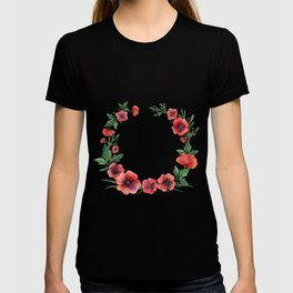 Meadow Red Poppies T-shirt