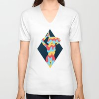 lucy V-neck T-shirts featuring Lucy by Popsicle Illusion