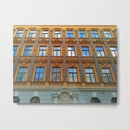 Riga Art Nouveau Architecture Metal Print