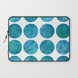 Blue Watercolor Dots Laptop Sleeve