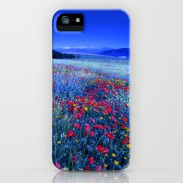 Spring poppies at blue hour iPhone Case