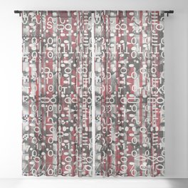 Linear Thinking Trip Switch (P/D3 Glitch Collage Studies) Sheer Curtain