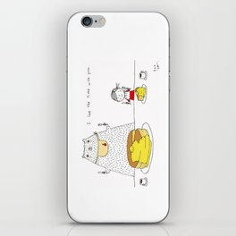 I love the time with you iPhone Skin