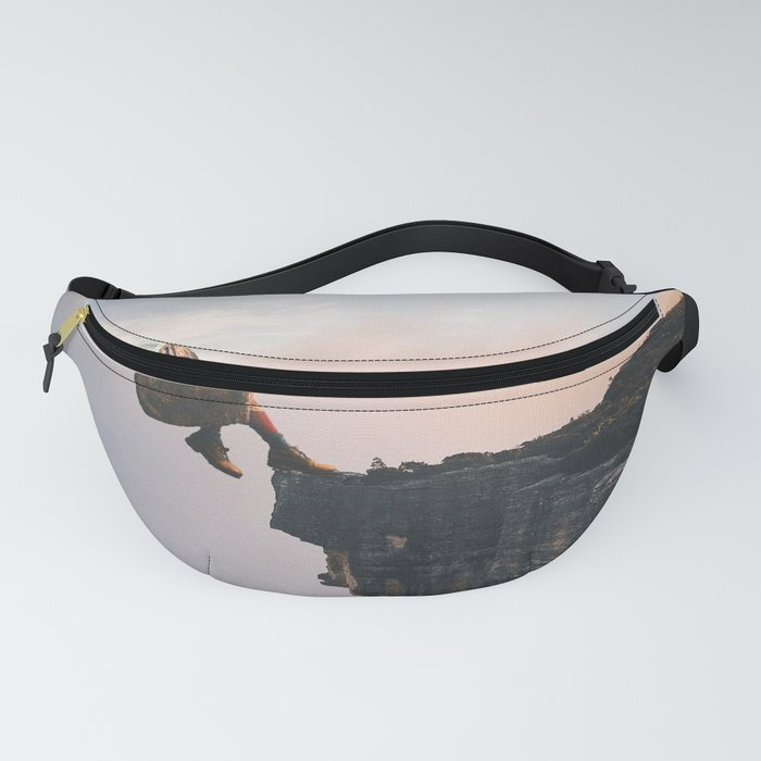 Up in the Clouds-Surreal Levitation Off a Cliff Fanny Pack