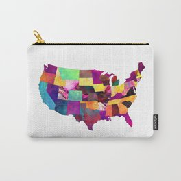 USA map art 1 #usa #map Carry-All Pouch