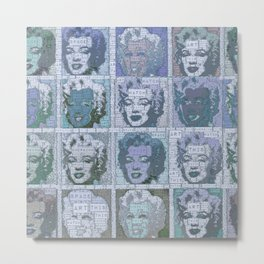 Watch This Space gallery - Signature Blue Fame Marilyn Metal Print