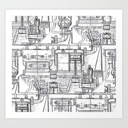 Engineered Sketch Art Print