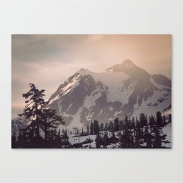 Pink Mountain Morning - Nature Photography Canvas Print