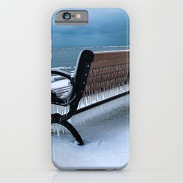Another Cold Place to sit on Dunkirk Pier iPhone Case