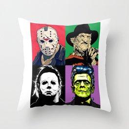 Horror Pop Art Throw Pillow