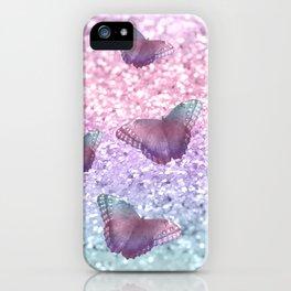 Pastel Unicorn Butterfly Glitter Dream #1 #shiny #decor #art #society6 iPhone Case