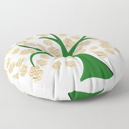 Golden dollars tree Floor Pillow