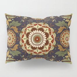 Boho Framed Floral Pillow Sham