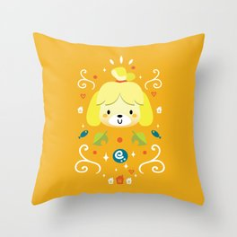 Animal Crossing: Isabelle Throw Pillow