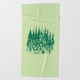 Campsite Beach Towel