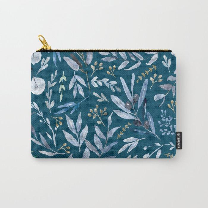 Eucalyptus Blue Carry-All Pouch