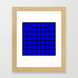 Large Blue Weave Framed Art Print