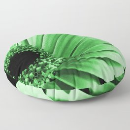 Gerbera Green Floor Pillow