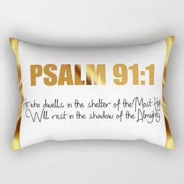 Psalm 91:1 Rectangular Pillow