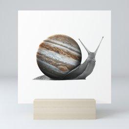 galactic snail saturn Mini Art Print