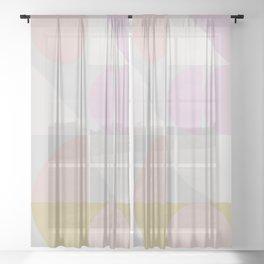 Winter Pastel Shapes Sheer Curtain