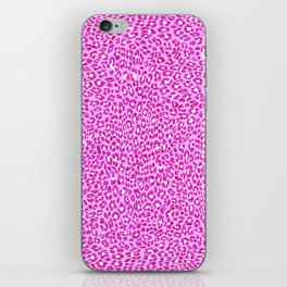 Light Pink Glitter Cheetah Print iPhone Skin