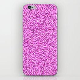 Light Pink Glitter Cheetah Print iPhone Skin