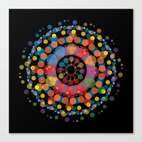 circles Canvas Prints featuring Circles by Scalifornian