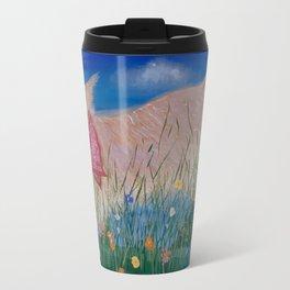 Gorgeous Golden Retriever in flowers in Bandana Travel Mug