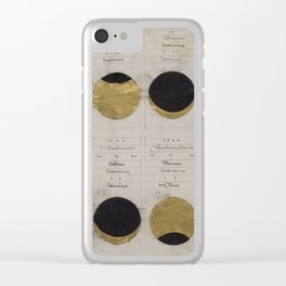 Gold Eclipse Clear iPhone Case