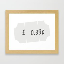 Price Tag Framed Art Print